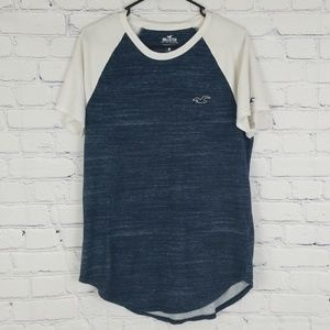 GUC blue and  white Hollister short sleeve tshirt